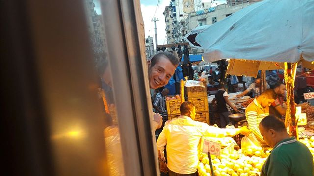 Cucú! :)Thanks @ Pedro for the pic -On a historical tram in Alexandria