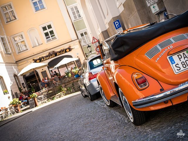Road trip.-Passau, Germany.-2018 | Gian-Carlo Corba | MonkeyPix.org ThisIsHowISeeTheWorld.com@monkeypix_official-#beetle #vw #volkswagen #vwbeetle #Danube #Donau #Passau #Germany #Color #Colorful #City #Cityscape #StreetPhotography #Street #Summ #CityScape #urbanwalls #buildings #architecture #architecturelovers #architectureporn#MonkeyPix